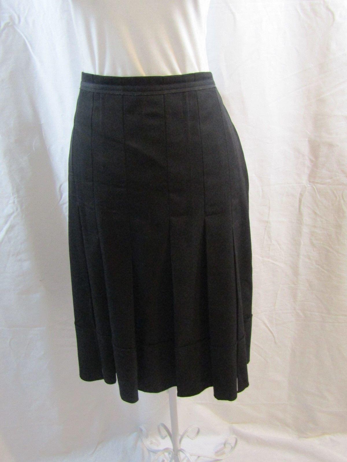 BCBG MAXAZRIA wohommes noir plissée jupe-Taille 8 Neuf avec étiquettes