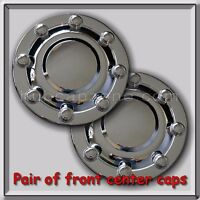 2-1998-1999 Dodge Ram Truck Dually 3500 Front Wheel Chrome Hub Cap, Center Cap