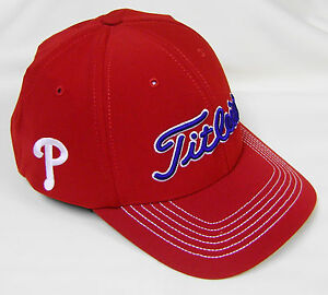 e568f439 Details about New Titleist MLB Fitted Philadelphia Phillies Golf Cap Hat,  M/L or L/XL