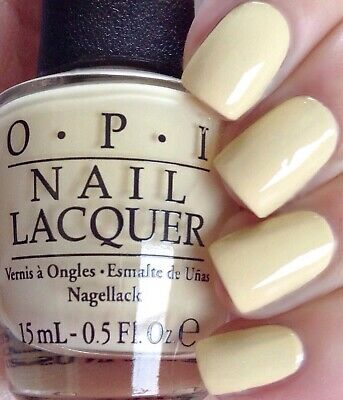Opi Soft Shades Pastel One Chic Chick Light Yellow Creme Nail Polish Lacquer T73 Ebay