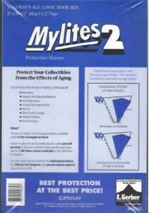50 Mylites2 GOLD SIZE 2 mil Archival Mylar Comic Bag Sleeves by E. Gerber 800M2