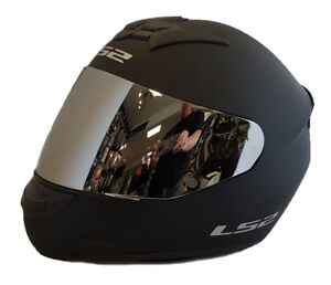 LS2 FF352 ROOKIE FULL FACE MOTORCYCLE HELMET MATT BLACK WITH MIRRORED VISOR