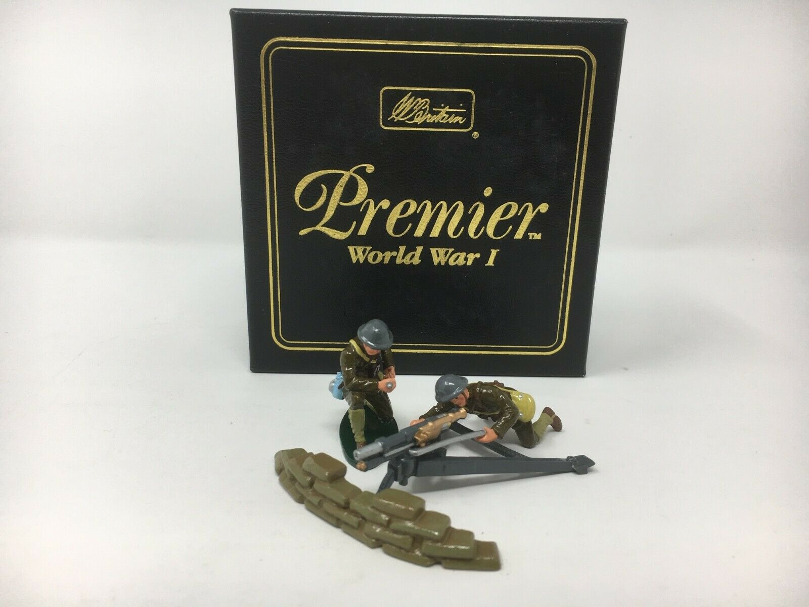 Britains Premier 41032-WWI francese 37MM TRINCEA GUN & US Artiglieria distacco