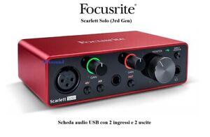 262046 Focusrite Scralett solo 3rd Generation. fattore di forma scrivania Indi