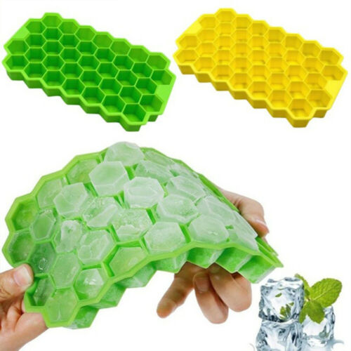 Bar Reusable Cream Maker Ice Cube Mold Silicone Trays Honeycomb Shap