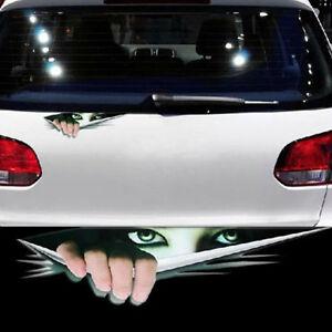 1x-Auto-Car-3D-Aufkleber-Sticker-Spaehen-Monster-Wasserdicht-Autotattoo-Sticker