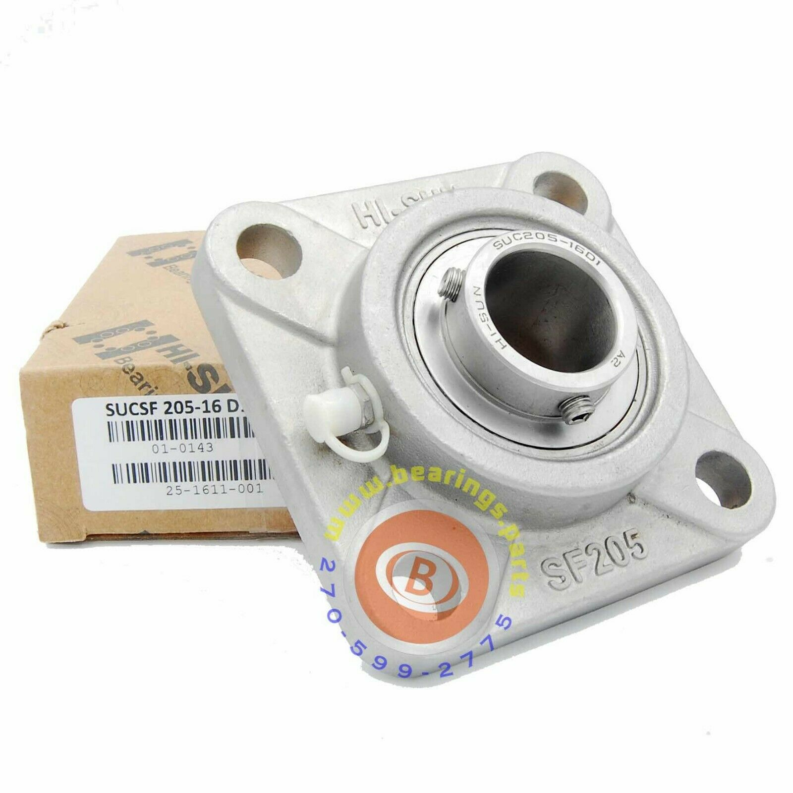 Hi-Sun 1  SSUCF205-16 Stainless Steel Bearing
