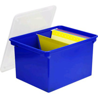 Storex Portable File Tote, Letter/Legal, Blue City of Toronto Toronto (GTA) Preview