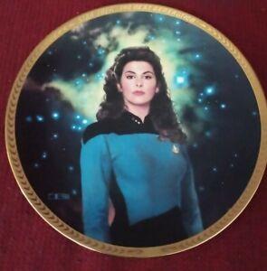 Hamilton Collection Star Trek The Next Generation Collector Plate Deanne Troi