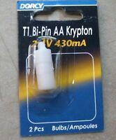 Dorcy T1 Bi-pin Aa Krypton 2.4 V 430 Ma 2 Pc. Bulb, Free Shipping