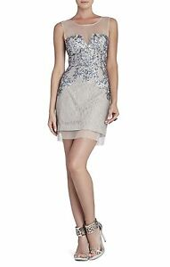 NEW-BCBG-GULL-GREY-CO-ABIGAIL-PAISLEY-SEQUINED-COCKTAIL-DRESS-EEF6Y964-M483-SZ-2