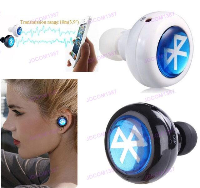 MiNi Bluetooth Wireless In-Ear Headphones Headset Stereo Mono Earphone Smallest