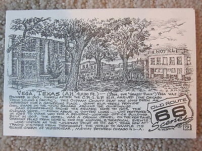 Vega Texas by the Late Bob Waldmire Artist Route 66 Post card,Quik s&h