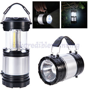 2 in 1 LED Camping Lantern, Cob Light Ultra Bright Collapsible Lamp Portable