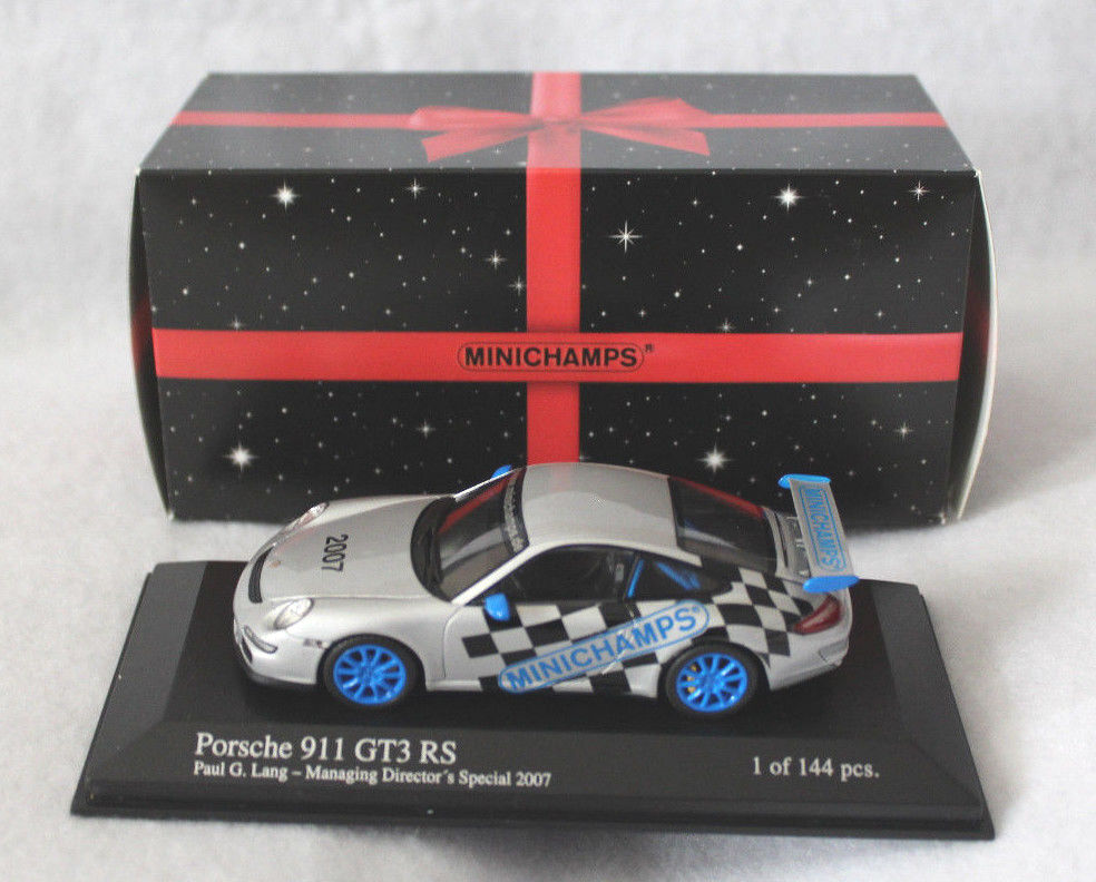 MINICHAMPS 1 43rd Scale PORSCHE 911 GT3 RS, Managing Director's Special, 2007