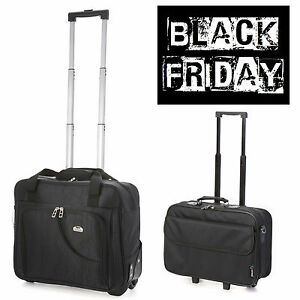 SALE Cabin Laptop Trolley Business Exec Hand Luggage Bag Black