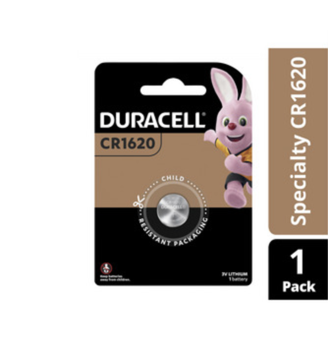 Duracell Specialty CR1620 Lithium Coin 3V 1 Pack New & Sealed