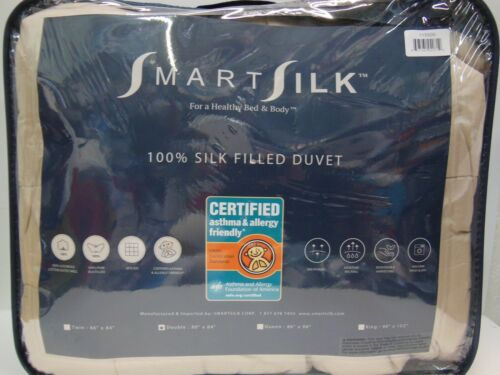 Smart Silk Duvet Comforter 100/% Silk Size Double//Queen//King Color White//Gray//Tan