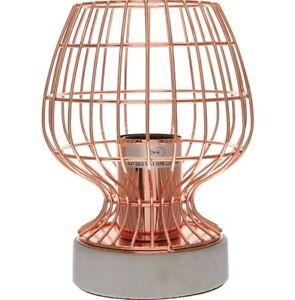 Concrete Copper Table Lamp Rose Gold Cement Cage Desk Light