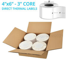 4000 4 X 6 Direct Thermal Shipping Blank Labels 3 Core Zebra Compatible