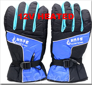 Unisex-12V-Motorcycle-ATV-Electric-Heated-Gloves-100-Cotton-Inside