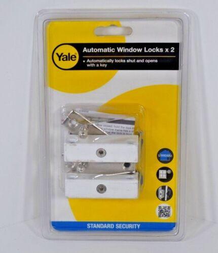 Yale Locks P118 Auto Fenêtre Verrou finition blanche Pack de 2