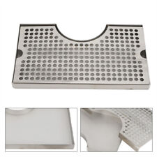 """19/"""" x 4/"""" Rectangular 304 Stainless Steel Beer Drip Tray No Drain Surface Mount"""