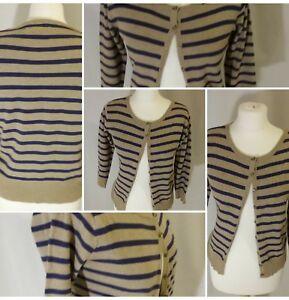 Beige-Cardigan-With-Navy-Strips-Size-12