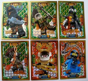 Lego-Ninjago-Serie-4-6-x-LE-Karten-TGC-LE-6-LE-7-LE-22-LE-23-LE-24-und-LE-25