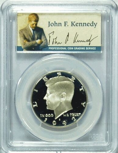 1992-S PCGS PR69DCAM Silver Kennedy Half Dollar Presidential Label