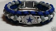 Dallas Cowboys Royal Blue, Gray, and White Handmade Paracord Bracelet or Lanyard