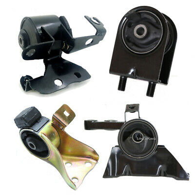 Engine /& Trans Mount Set 4PCS for Mazda Protege 99-01 L4 1.6L w// Manual Trans.