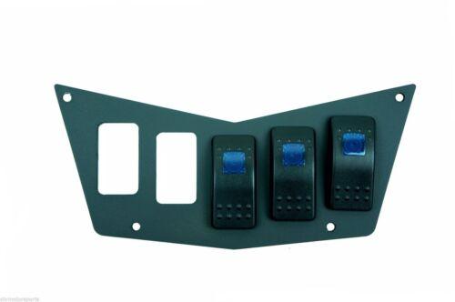 Polaris Aluminum Dash Panel 5 Switches RZR 570 800 800S 900xp 3 Free Switches