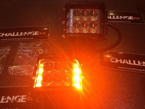Paire DEL 2 couleur travail Lights 12-24 V Red Beacon//blanc de travail lumière double Purpus