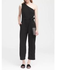 Black Republic Size Cropped One O19 shoulder Nwt 267631 2 Banana Jumpsuit YBaqA7