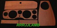 Fiat 124 Spider Dashboard Dash Panel Set Custom Made In Cherry Wood Fits 70-78