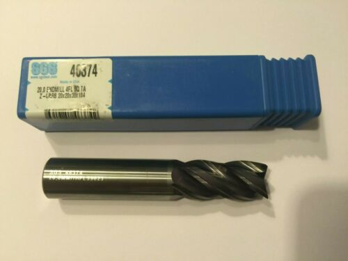 Endmill Solid carbide SGS 46374 Kyocera 20 mm diameter tool 4 flute Z-Carb NEW