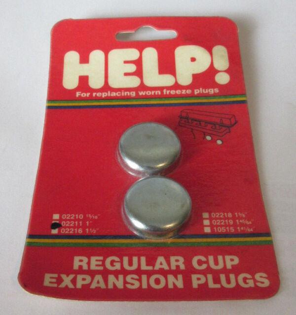 """Set of 2 Dorman Help 02211 1.0"""" Expansion Plug Frost Plug 1"""" 555-091 362635"""