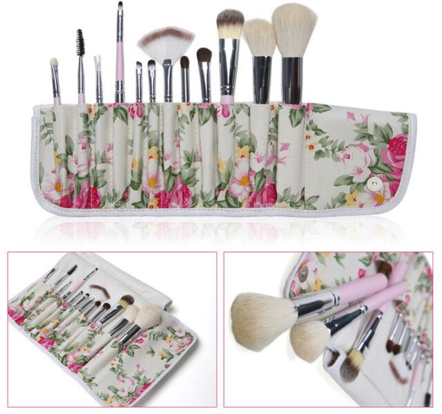 12Pcs Makeup Brushes Pro Eyeshadow Beauty Cosmetic Set Soft Kit With Holder Bag