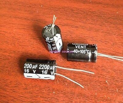 10PCS 2200uF 16V Radial Capacitor Electrolytic 105°C 10X20MM