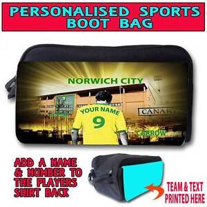 Personalizado unoffical Norwich City De Fútbol entrenador deportivo Zapatillero