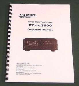yaesu ftdx 3000 operating manual premium card stock covers 28lb rh ebay com yaesu ftdx 3000 user manual Yaesu FT 3000 Pricing