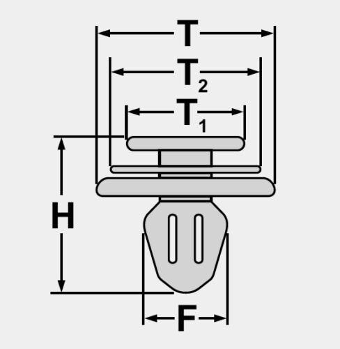 20x Stoßfänger Front Stoßstangen Befestigung Clips für FORD KA PUMA Ø 9,5 mm