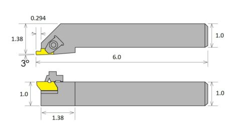 TNSR16-4D NOTCH STYLE EXTERNAL THREADING /& GROOVING TOOL HOLDER 2301-3117