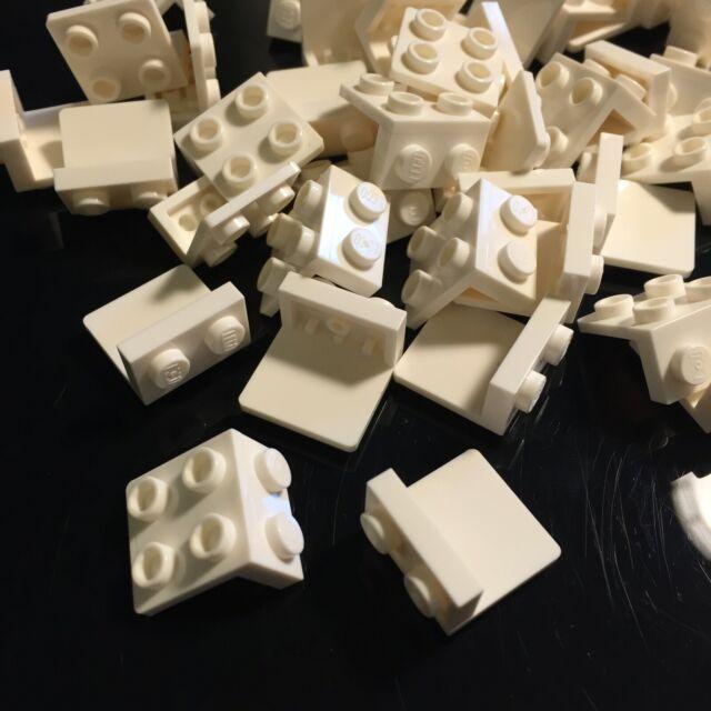 Lego Bracket Plate 1x2-2x2 44728 White x12