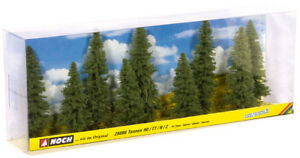 NOCH-25086-Gauge-H0-Tt-N-Z-Fir-9-Piece-Approx-8-12cm-High-New-IN-Boxed