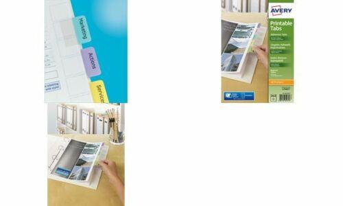 Avery Index-Tabs farbig haftend 320x130 96 Stück Markierung Drucker Beschriftung