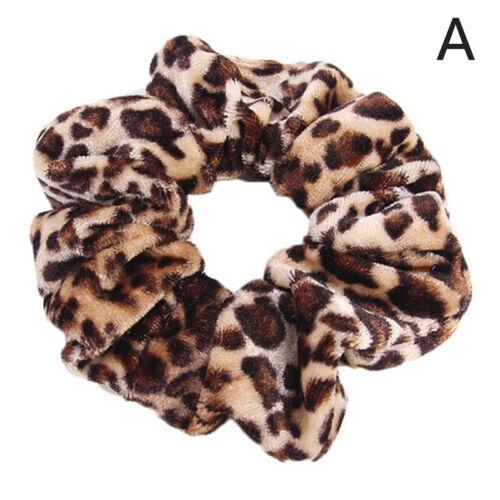 Leopard Print Hair Bands Scrunchie Elastic Scrunchy Ponytail Holder HairbanRKFS