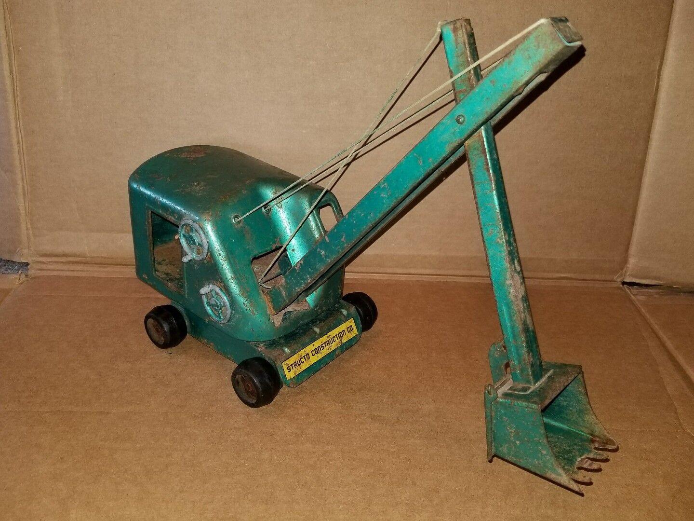 Structo Toys Vapeur Pelle Pressé Vert Acier Jouet Vintage Grue  Construction  liquidation de la boutique