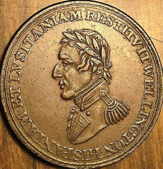 1812 LOWER CANADA WELLINGTON SALAMANCA HALF PENNY TOKEN